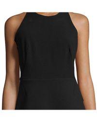 Halston - Black Asymmetric Peplum Tank Dress - Lyst