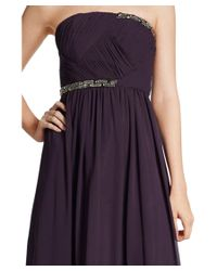Ivanka Trump - Multicolor Chiffon Strapless Embellished Gown - Lyst