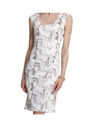Rachel Roy - White Skull Bird Print Cocktail Sheath Dress - Lyst