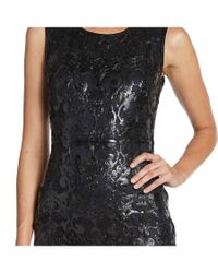Elie Tahari - Black Sierra Leather Filigree Sheath Cocktail Evening Dress - Lyst