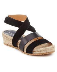 Bettye Muller   Black Safron Leather Sandal   Lyst