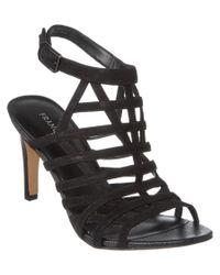 Franco Sarto | Black Spruce Suede Sandal | Lyst
