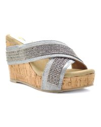 Volatile | Metallic Women's Blissy Sandals | Lyst