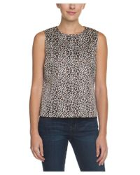 C. Wonder - Multicolor C. Wonder Classic Cheetah Natural Sleeveless Top - Lyst