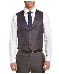 Calvin Klein - Gray Slim Fit 3pc Vested Suit With Flat Front Pant for Men - Lyst
