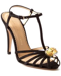 Charlotte Olympia | Black Rio Woven Canvas Sandals | Lyst