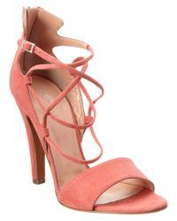 Jill Stuart - Pink Cordelia Suede Sandal - Lyst