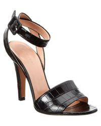 Jill Stuart | Black Clementine Leather Sandal | Lyst