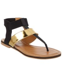 Nine West   Black Iroko Sandal   Lyst