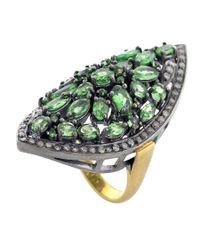 Socheec - Green Tsavorite Cocktail Ring - Lyst