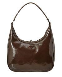 Longchamp - Brown Roseau Verni Leather Hobo - Lyst