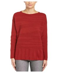 Lafayette 148 New York - Red Wool & Cashmere-blend Sweater - Lyst