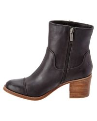 Sperry Top-Sider - Black Helena Leather Ankle Boot - Lyst