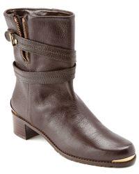 Stuart Weitzman - Brown Slamdunk Leather Boot - Lyst