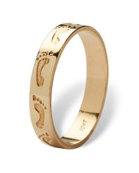 Palmbeach Jewelry - Metallic 10k Yellow Gold Footprints Band - Lyst
