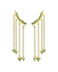 Noir Jewelry - Metallic Cyrene Ear Creepers - Lyst