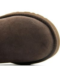 Ugg - Classic Tall Women Round Toe Suede Brown Winter Boot - Lyst