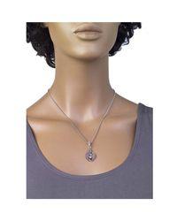 Jewelista - Gray Oxidized Silver Gemstone Pendant - Lyst