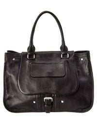 Longchamp | Black Balzane Leather Shoulder Bag | Lyst