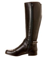 Franco Sarto - Black Majesta Leather Knee-High Boots - Lyst