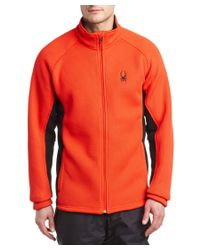 Spyder | Red Foremost Full Zip Heavyweight Core Sweater for Men | Lyst