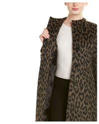 Cinzia Rocca - Brown Alpaca & Wool-blend Coat - Lyst