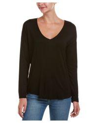 Splendid | Black Dropped-shoulder T-shirt | Lyst