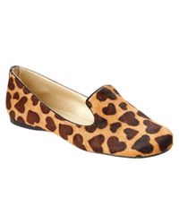 French Sole | Brown Gaga Haircalf Slip-on Loafer | Lyst