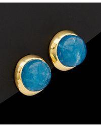 Argento Vivo | 18k Over Silver Blue Aventurine Post Earrings | Lyst