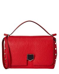 Jimmy Choo | Red Lockett M Grainy Leather & Nappa Shoulder Bag | Lyst