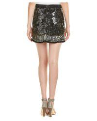MLV - Black Meg Silk-blend Mini Skirt - Lyst