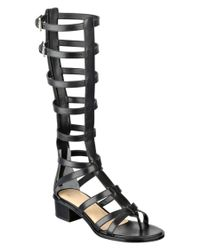 Marc Fisher | Black Ltd Fair Leather Gladiator Sandal | Lyst