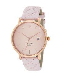 kate spade new york - Pink Women's Metro Grand Watch - Lyst