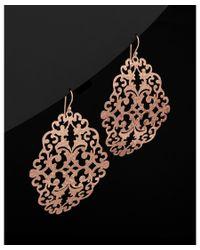 Argento Vivo - Black 18k Rose Gold Over Silver Filigree Earrings - Lyst