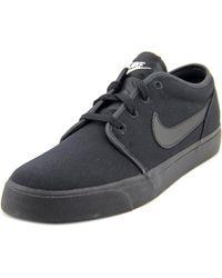 Nike | Toki Low Men Round Toe Canvas Black Sneakers for Men | Lyst