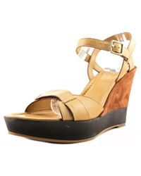 Cole Haan | Multicolor Paley High Wedge Women Open Toe Leather Wedge Heel | Lyst