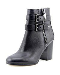 Via Spiga | Black Briella Women Round Toe Leather Ankle Boot | Lyst