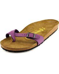 Birkenstock - Purple Piazza N/s Open Toe Synthetic Slides Sandal - Lyst