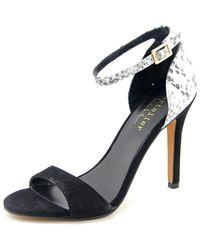 Nicole Miller | Black Josie Women Open Toe Suede Sandals | Lyst
