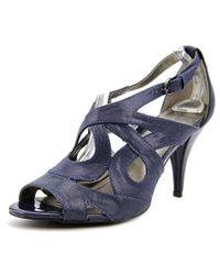 Bandolino | Janeta Women Open Toe Canvas Blue Sandals | Lyst