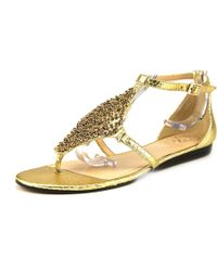 Vince Camuto | Metallic Valeen Open Toe Leather Thong Sandal | Lyst