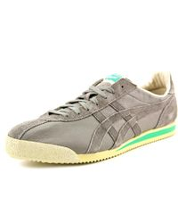 Asics - Tiger Corsair Vin Women Round Toe Suede Gray Tennis Shoe for Men - Lyst