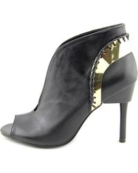 Fergie | Black Divine Peep-toe Leather Bootie | Lyst