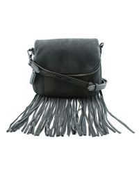 Rebecca Minkoff   Mini Crosby Crossbody Bag W/ Fringe Women Black Messenger   Lyst