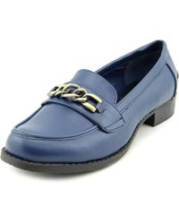 Steve Madden - Blue Syllabus Round Toe Synthetic Loafer - Lyst