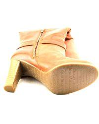 Enzo Angiolini - Orange Sumilo Women Round Toe Leather Tan Knee High Boot - Lyst