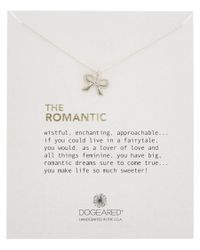 Dogeared   Metallic 14k Over Silver The Romantic Necklace   Lyst