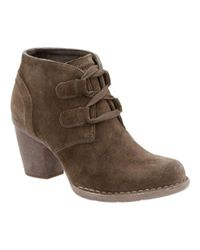 Clarks - Brown Carleta Lyon Almond Toe Suede Ankle Boots - Lyst