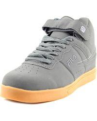 Fila | Vulc 13 Men Round Toe Synthetic Gray Sneakers for Men | Lyst