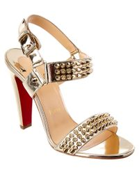 Christian Louboutin | Bikee Bike 100 Metallic Patentpump | Lyst